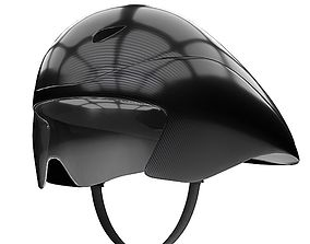 Time Trial Bicycle Carbon Helmet with goggles 3D