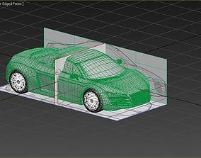 3D asset audi r8 car model