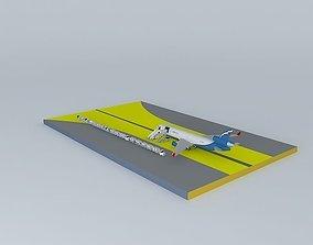 Aeroflot MD11 3D model
