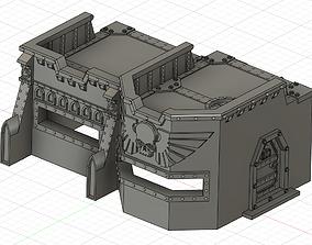 3D print model wargame bunker