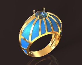 Sky Sphere Golden Ring 3d printing model