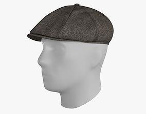 Newsboy Hat 3D asset