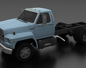 3D model F-800 Truck Chassis 1980