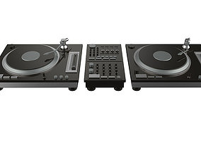 electronic dj turntable 3D