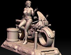 3D print model Ciri Cyberpunk style