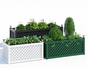 3D model Treillage jardinieres