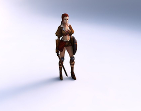 3D model Game ready woman character