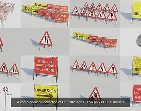 3D model A comprehensive collection of UK traffic signs 3