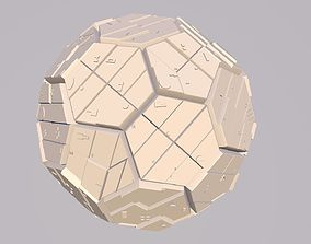 Sphere Scifi Object No 1 Cinema 4D FBX OBJ MTL STL 3DS