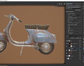3D model realtime Vespa 50s rusty Low Poly