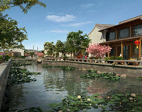 Chinese classical garden 012 3D