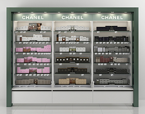 Chanel Perfume Shelving 3D model