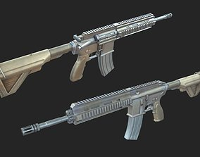 HK 416 Assault automatic rifle carbine 3D asset