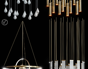 Lampatron REACT R and pendant lamps 3D model