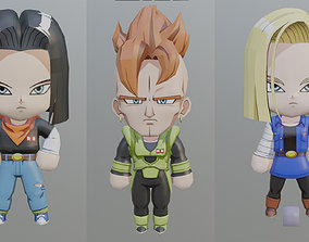 3D print model Android 16 - 17 and 18 chibi