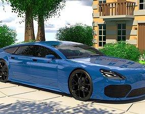Generic Large 4 Door Coupe 3D model