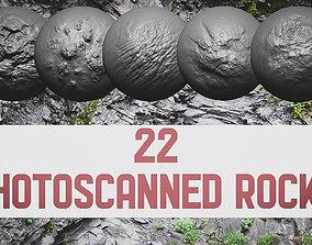 Photoscanned Rocks Brushes 3D model