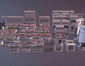 3D asset Sci Fi Parts Kit 1