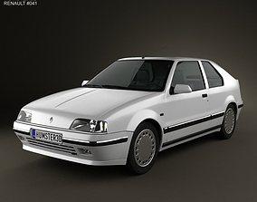 3D Renault 19 3-door hatchback 1988