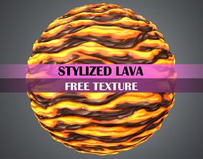 3D asset Stylized Lava Texture