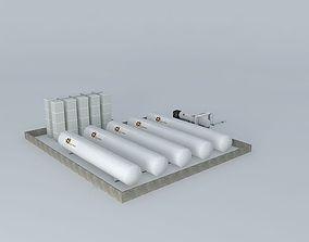 3D model LNG Import Terminal Ochre Energy