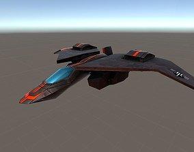 3D model animated Kestral Jet