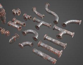 Factory Element - Pipes 3D asset
