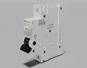 Electric switch automatic with fully detailed 3D model