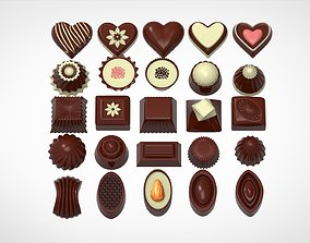 3D model dessert Chocolate Candies