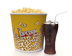 Popcorn and Cola 3D model