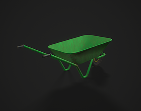 Dirty Wheelbarrow 3D model