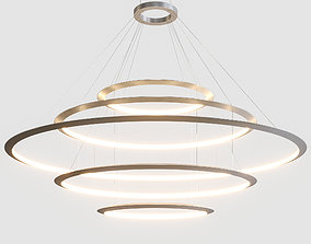 3D Circular Suspended Lamp by GROK v5