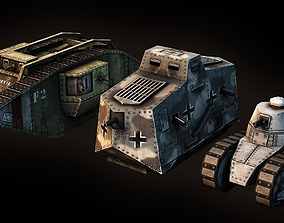 3D model World War I Tank Pack