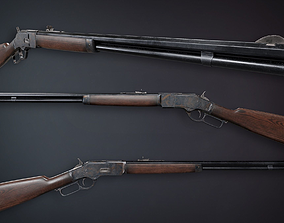 Lowpoly PBR Winchester 1873 3D model