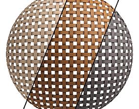 Wicker materials 6- PBR 4k by Sbsar 3D model