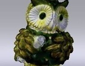 Studious owl ornament 3D printable model