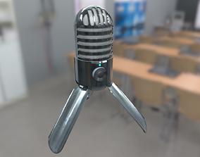 3D asset low-poly SAMSON Meteor USB microphone