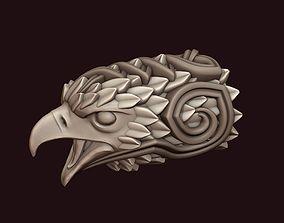 Falcon head with ornament 3D print model