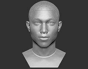 Pharrell Williams bust 3D printing ready stl obj formats