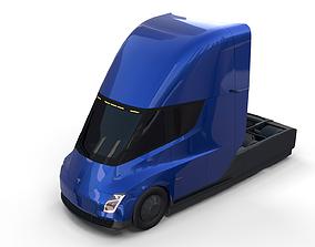 Tesla Truck Blue 3D model