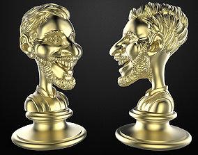 3D print model barcelona Lionel Andres Messi bust cartoon