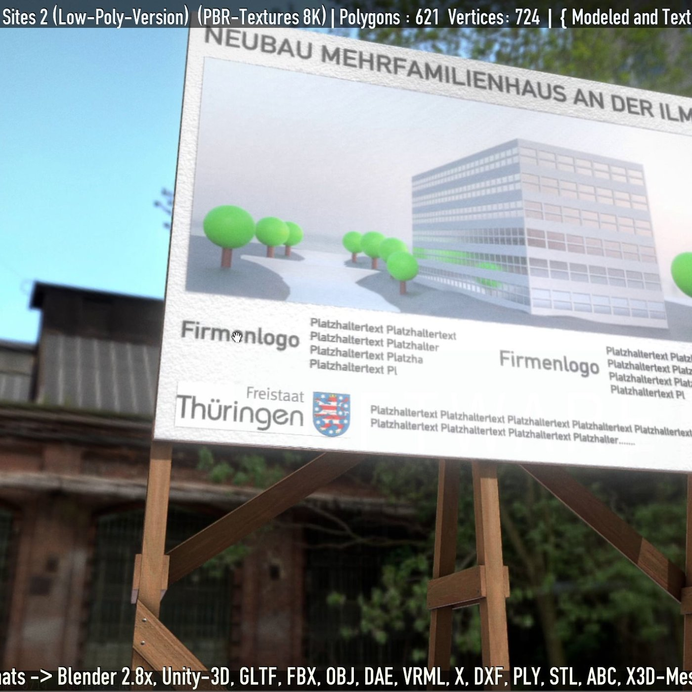 Low-Poly Billboard For Construction Sites 2