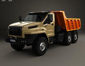 3D Ural Next Dumper Truck 2016 3-axle