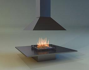 Fireplace hearth 3D