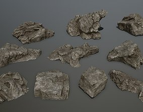 rock set 1 3D asset low-poly