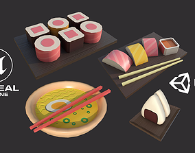 Sushi Set 3D asset