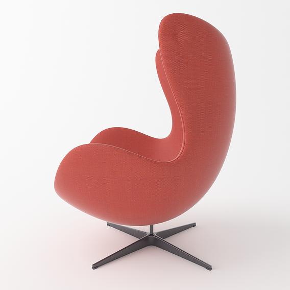 Armchair-Eggchair Low-poly 3D model