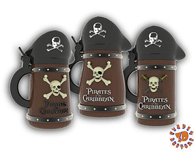3D printable model Pirates of the Caribbean Beer Steins 1