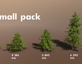 3D asset Conifer Small Pack
