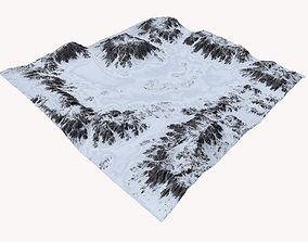 Snowy Terrain MTH087 3D